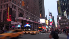 NYC - Times Square - Hard Rock Stock Footage