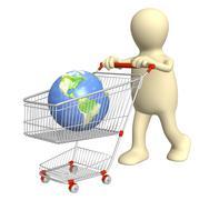 Global shopping - stock illustration