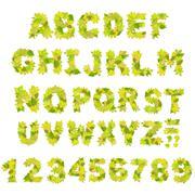 Stock Illustration of Green alphabet