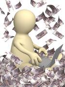 Earnings in the Internet Stock Illustration