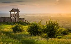 outlook tower on the hill - stock photo