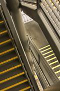 Close shot of metal stair Stock Photos