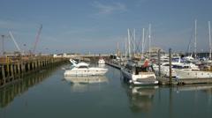 Lowestoft Yacht Club, Suffolk, England, United Kingdom Stock Footage