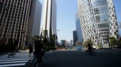 Metropolis Financial district Gakuen Cocoon skyscraper Tokyo Japan Stock Footage
