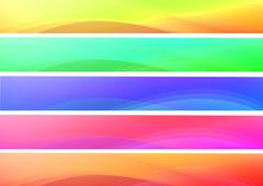 Abstract colorful waves  banners Stock Photos