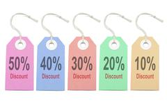 Multicolor paper tags Stock Photos