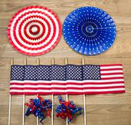 celebration items for the fourth of july indepence day in united states of am - stock photo