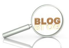 Blog - stock illustration