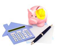 Calculation of mortgage Stock Illustration