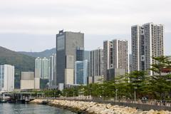 good weather in hong kong - stock photo