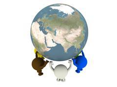 Smileys and globe Stock Photos