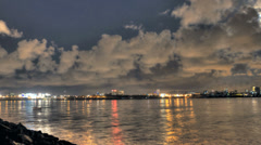 HDR timelapse of mumbai skyline and sealink Stock Footage