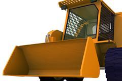 Bulldozer on wheels Stock Photos