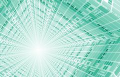 technology network - stock illustration