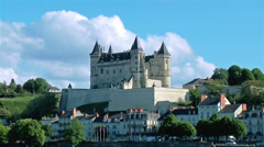 Chateau de Saumur - Saumur France Stock Footage