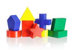 Colored geometrical blocks Stock Photos