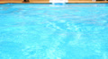 Pure blue water in the pool. Water background. Footage