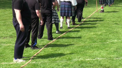 Tug-of-War teams at Highland Gathering Stock Footage