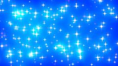 Blue Glowing Stars Background Loop 1 Fast - stock footage