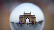 Stock Video Footage of Gateway of India, timelapse Mumbai, lens view