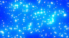 Blue Glowing Stars Background Loop 1 Dense Fast - stock footage