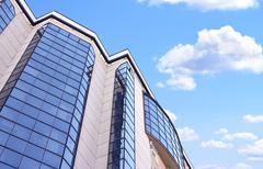 High-altitude office building Stock Photos