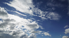 Summer cloudscape timelapse footage, wide angle 4k video Stock Footage