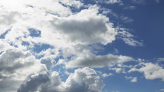 Summer cloudscape timelapse footage, tele angle 1080 video Stock Footage