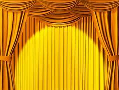 Theatrical curtain - stock illustration