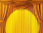 Stock Illustration of Theatrical curtain