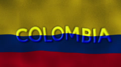 19 colombia flag text Stock Footage