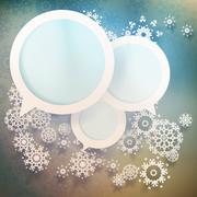 Stock Illustration of Abstract winter design with snowflakes. EPS 10