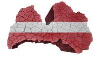 Latvian map Stock Illustration