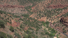 Mountain road Zion National Park Utah HD Stock Footage