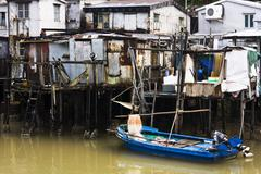Tai O, A small fishing village in Hong Kong Stock Photos