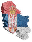serbian map - stock illustration