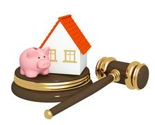 Division of property at divorce Stock Illustration