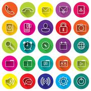 Phone flat icons for application Stock Illustration