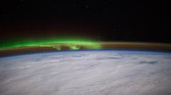 Aurora Borealis over North Pacific Ocean 4k UHD - stock footage