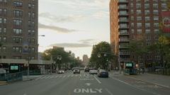 Flatbush Avenue heading north towards the clocktower Stock Footage