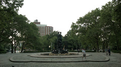 Wisdom and Felicity Fountain at Grand Army Plaza Stock Footage
