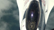 Stock Video Footage of Mid-Air Refueling the Air Force Thunderbirds Fighter Jets
