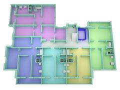 Floor plan house Stock Photos