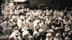 Large Audience Listening To Speech-1955 Vintage 8mm film Stock Footage