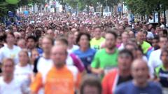Marathon Runners Crowd 06 Stock Footage