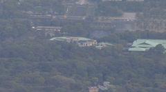 Aerial Imperial Palace Kokyo Gaien National Garden Japan Stock Footage