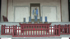 Stock Video Footage of Portrait of Confucius in Chinese ancestral temple