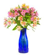 Bouquet of alstroemeria flowers - stock photo