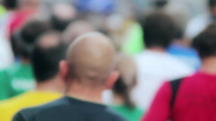 Marathon Runners Crowd  09 Stock Footage