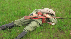 Killed Russian soldiers. Battlefield. The first world war. 4K. Stock Footage